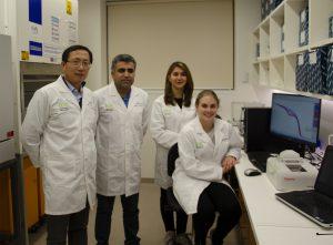 Research team: A/Prof Shubiao Wu, Dr Sarbast Kheravii, Dr Kosar Gharib-Naseri, and PhD student Ashley England